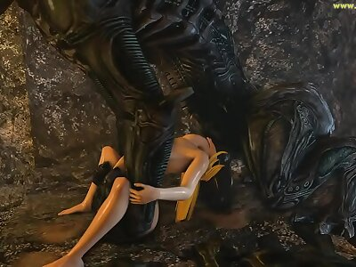 Samus Aran on a strange Foreigner Planet Saga Full Photograph 3D Porn