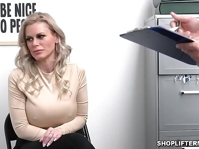 Order about shoplifter MILF Casca Akashova caught stealing necklace unconnected with an officer. She was offered for lovemaking to get her freedom and fucked inside the office.