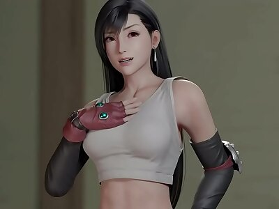 FF7 Tifa Acts Cocksure and Takes a Smarting 3D Hentai (HentaiSpark.com)