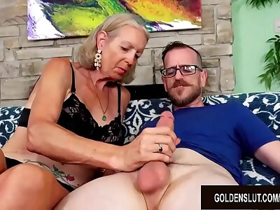 Tall Granny Super Sexy Has The brush Tight Asshole Reamed by a Younger Guy