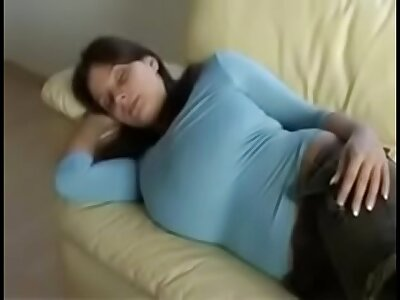Nadine Jensen - I Groped My Hot Milf Aunt Tits After a long time She Was Sleeping