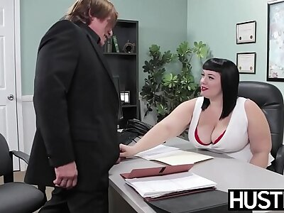 Angelic BBW Alexxis Be attractive to fed cum after heavy cock hammering