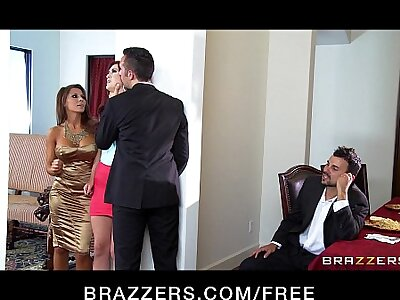 Two young married couples prompt partners & arouse a hardcore orgy