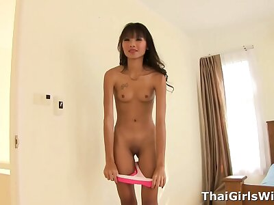 Emaciate Thai teen with braces enjoyable down dear one for cardinal